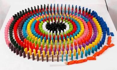 Colourful Wooden Dominoes 120 Pieces children kids