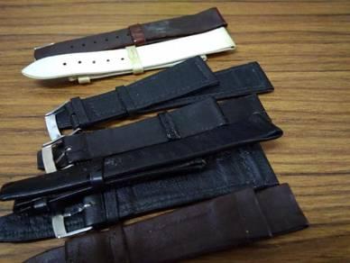 Vintage high quaity leather strap 18mm gent