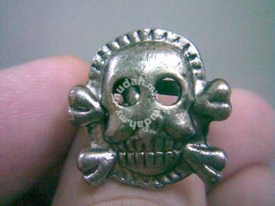 ABRSMF-S007 Cool Style Skull_07 Silver Metal Ring