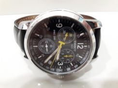 Tissot prc200 leather black watch