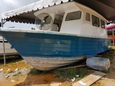 Boat 33ft x 11ft. Tandas + dapur Siap