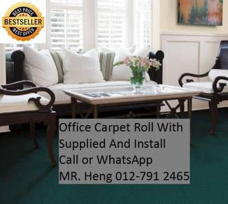 Classic Plain Design Carpet Roll with Install g7