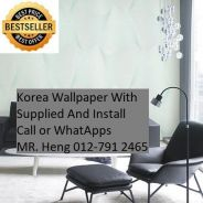 PVC Vinyl Wall paper with Expert Install gf65h989