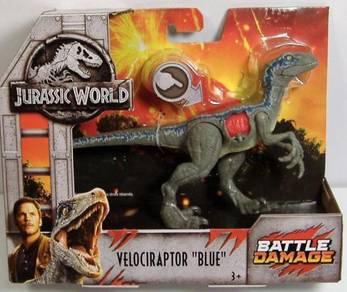 Jurassic World Velociraptor Blue Battle Damage
