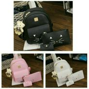 ( 3 IN 1 ) Miaw Backpack Bag Set