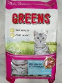 Greens Hair Skin Bright Cat Food Kucing 8kg