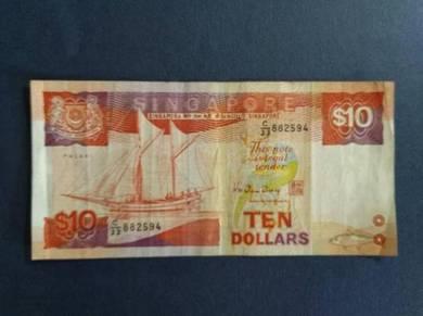 Ten Dollars Singapore C/33 882594