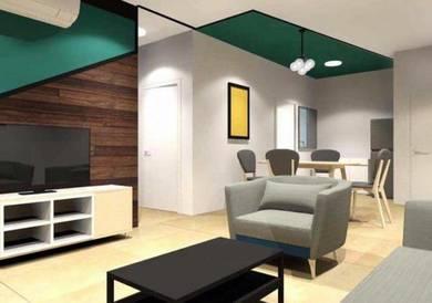 Aliff avenue condo 2bedroom fully furnished ID Design Low Deposit
