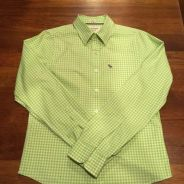 Abercrombie & Fitch Apple Green Check Shirt size M