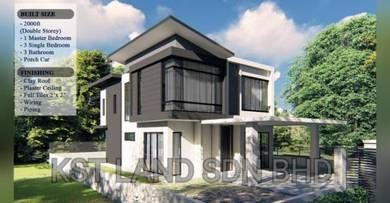 Tanah Lot Sungai Merab + Rumah Kediaman Freehold (Single Bungalow)