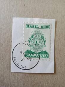 Stamp Hasil Revenue 100 Ringgit 1990 A313