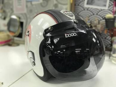 Helmet Aizo semi kulit