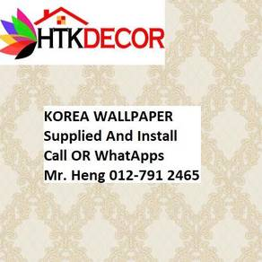 3D Korea Wall Paper with Installation 44BA