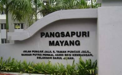 Pangsapuri Mayang Puncak Jalil 800sq.ft RENOVATED NICEVIEW BELOWMARKET