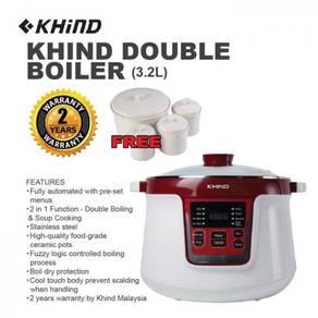 NEW MODEL* Khind DB32N - AnShin 3.2L Double Boiler