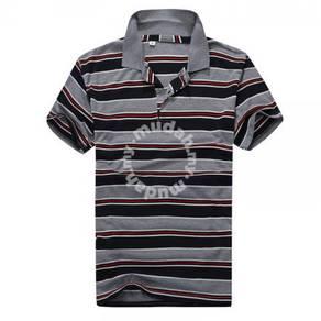 Korean Slim Stripes Short Sleeve POLO T Shirt