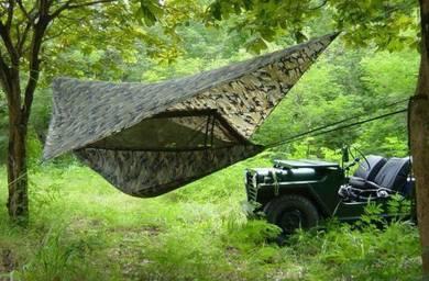 Khemah Hammock Camouflage Kelambu Tent + Flysheet