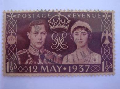 GB 1937 Coronation of King George VI Stamp - Used