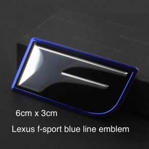 Lexus F-sport SS Blue Outline Emblem 6.0x3.0cm AG