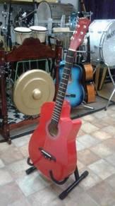 Gitar Akustik Res (Merah)