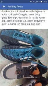 Kasut bola adidas dan sneaker body glove