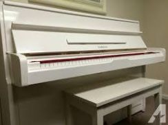 Looking for used Yamaha white piano