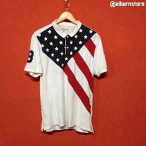Baju brand GIORDANO kolar fullprint t shirt