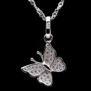 Cute butterfly pendant with necklace