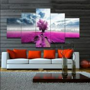 Purple Lavender Canvas Art Set