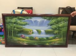 Bamboo Painting with Frame