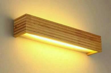 Lampu Pallet Pine Dinding