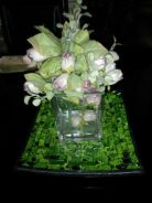 Crystal vase with flowers
