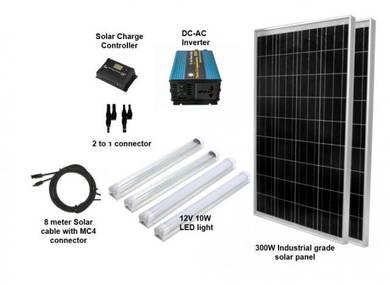 300W Solar Pakej Untuk Kebun / Ladang / Kandang