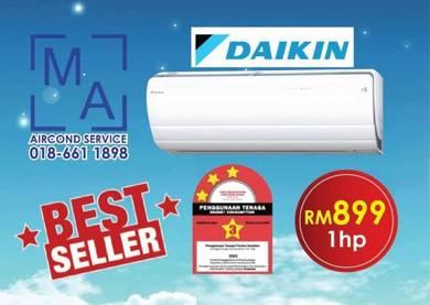 Brand New Aircond DAIKIN 1.0HP HOT PRICE 899