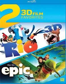 Rio 3D & Epic 3D blu ray