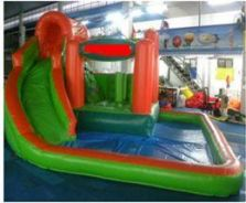 Inflatable pool with slide no 3