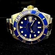 PREOWNED ROLEX SUBMARINER, 116613LB, Rolesor, 18Ct
