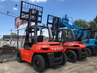 Import JAPAN TOYOTA 6 ton 7 ton Diesel FORKLIFT