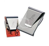 Double Sided Money Card Clip Holder Wallet Slim