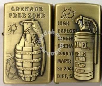 Zippo lighter grenade