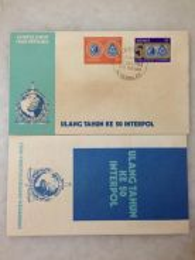 50th Anniversary of INTERPOL 1973 - FDC (A)