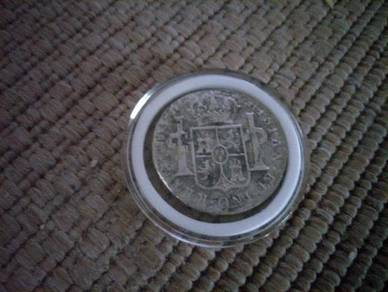 1806 Spanish 8 reales silver coin