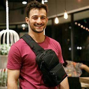 Men Unique Design Poly Sling Bag. BDK000005