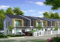 Superlink 2 Storey 22x71 at Sungai Long Cheras Kajang Malay reserved