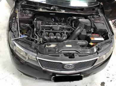 Kia Forte Car Air cond Service Open Dashboard