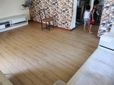 Vinyl Floor Lantai Timber Laminate PVC Floor Q246