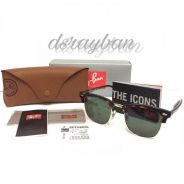 Original Ray Ban Clubmaster Tortoise RB3016 W0366
