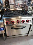 4 open burner with oven (gas)