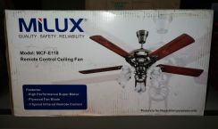 Milux remote ceiling fan (baru)