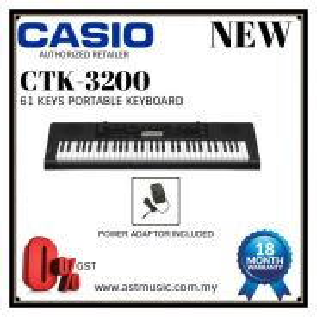 Casio CTK-3200 ctk3200 61 Keys Keyboard Pack A